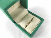 Pierścionek zaręczynowy złoty z diamentem YES z kolekcji Eternel r15,5 Mińsk Mazowiecki - zdjęcie 5