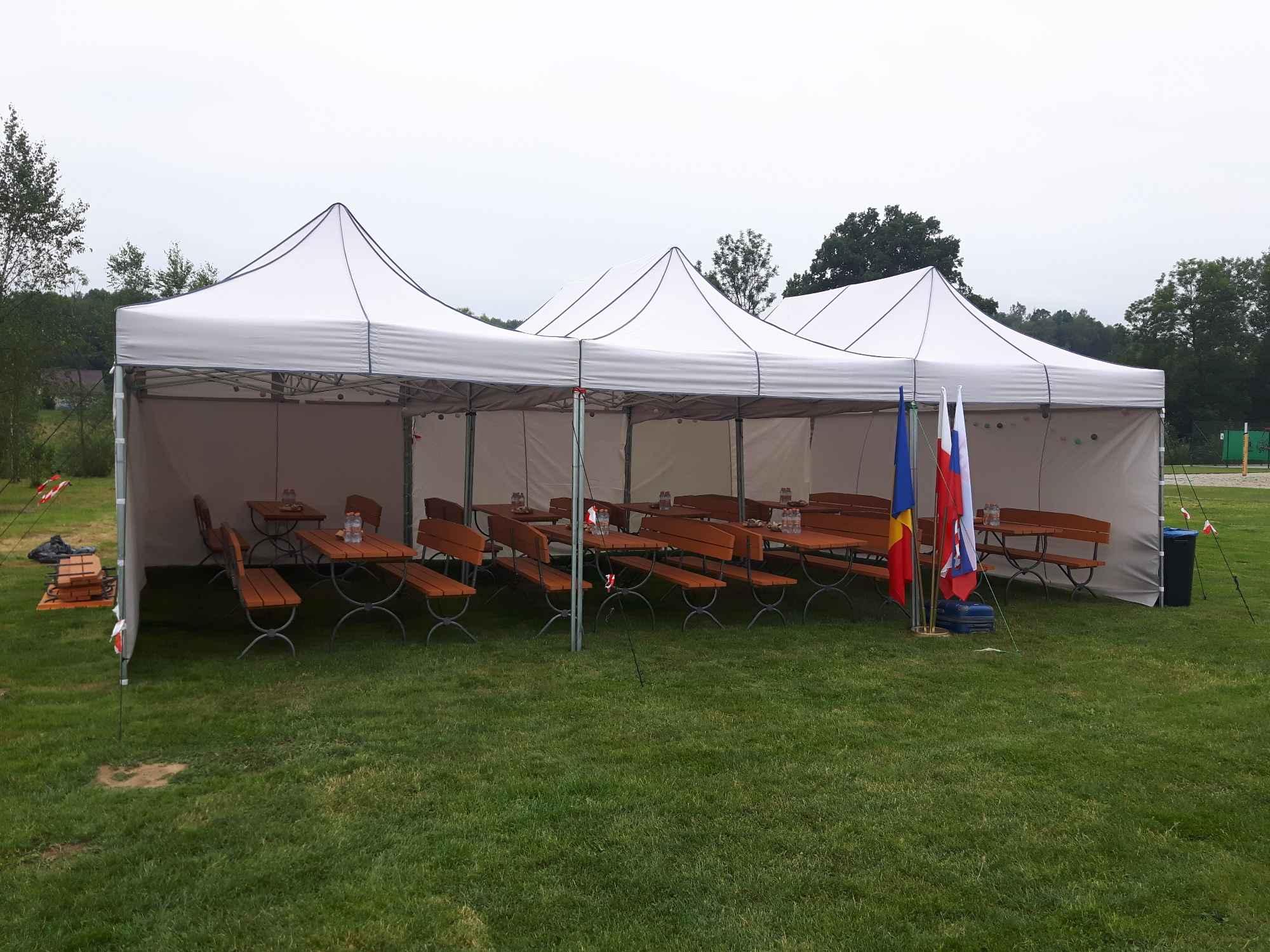 Namiot handlowy - ogrodowy 3x3 z 3  bokami Nowa Huta - zdjęcie 5
