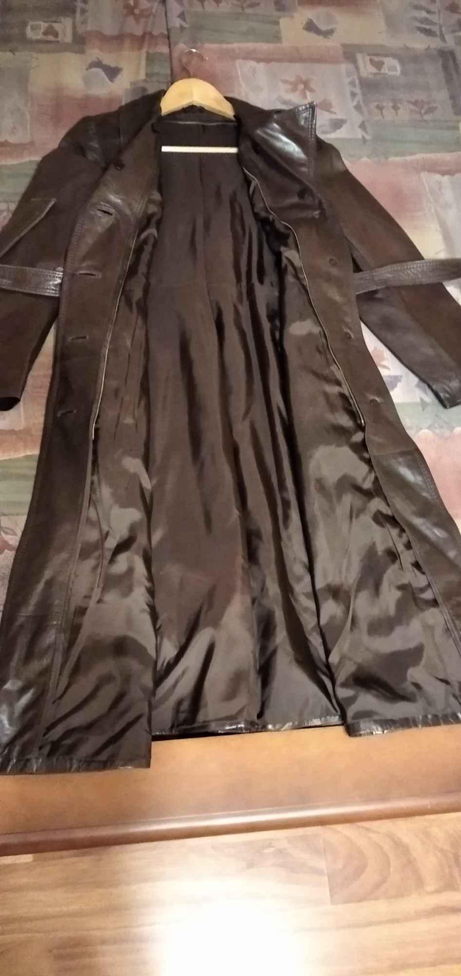 Sprzedam nowy ,skórzany, brązowy płaszcz damski Gdynia - zdjęcie 8