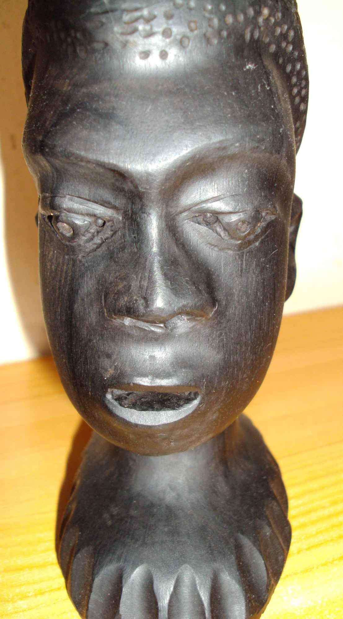 Sztuka afrykańska - 3 głowy z hebanu Śródmieście - zdjęcie 5