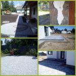 układanie kostki granitowej polbruku kamienia polnego schody tarasy. Białystok - zdjęcie 1