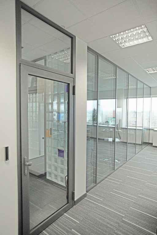 Ścianki działowe stałe i przesuwane, drzwi aluminiowe Podgórze - zdjęcie 1