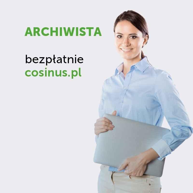 Technik Archiwista- kierunek dostępny za darmo w Cosinus! Gniezno - zdjęcie 1