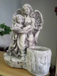 Anioł z gipsu h-33/30cm duży Chełm - zdjęcie 1