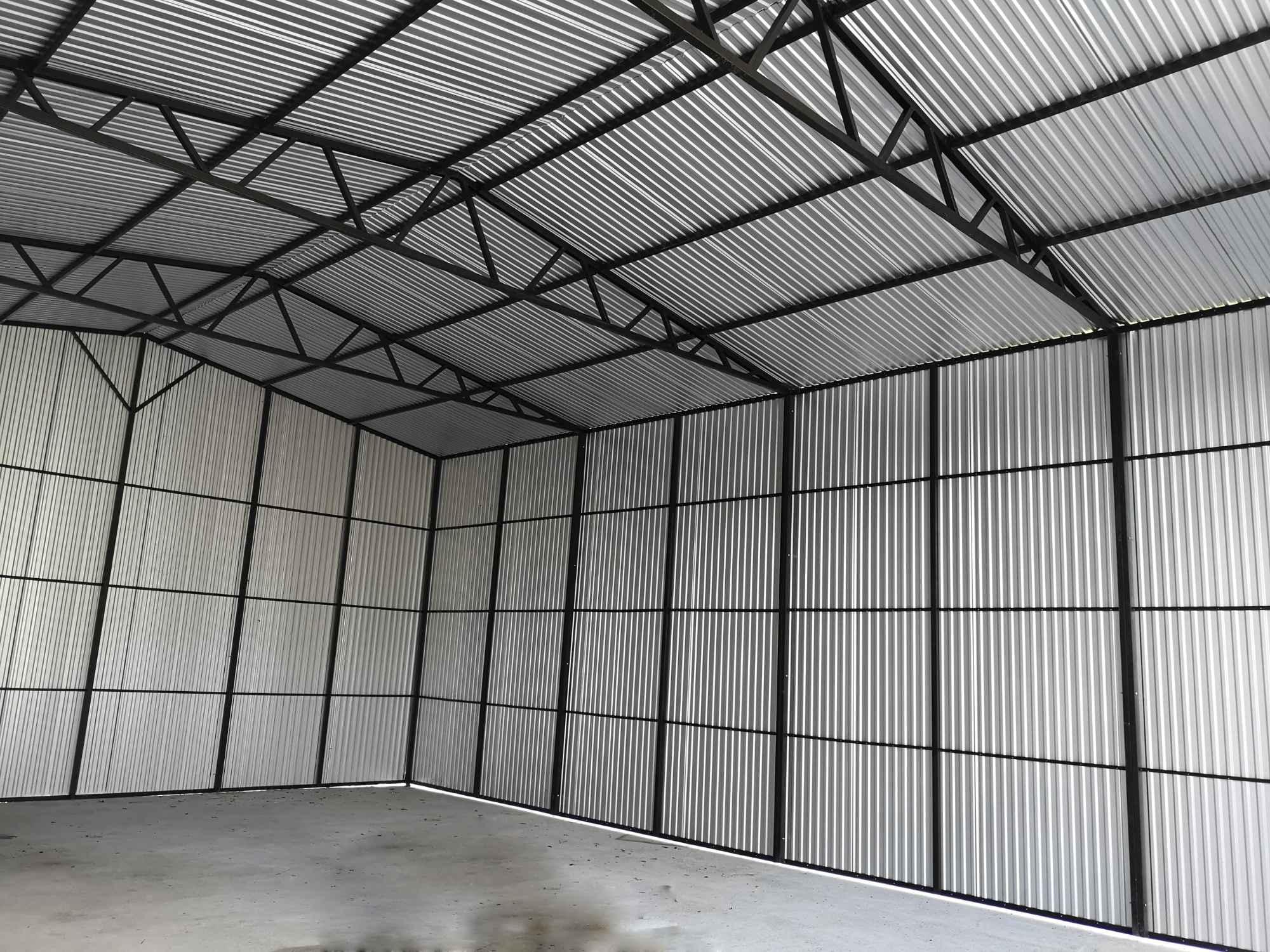 Garaż, Hala blaszana dwuspadowa 12x8 m trzy bramy, okna, drzwi, okucia Bochnia - zdjęcie 4