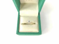 Pierścionek zaręczynowy złoty z diamentem YES z kolekcji Eternel r15,5 Mińsk Mazowiecki - zdjęcie 3