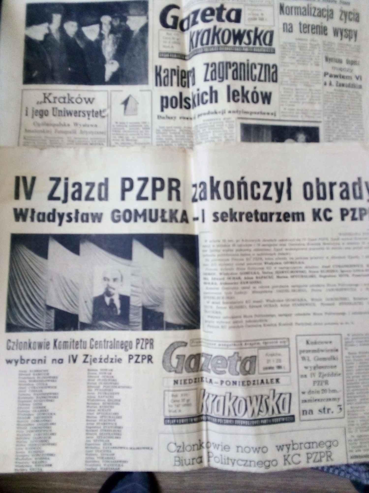 Gazeta Krakowska z 1964 Śródmieście - zdjęcie 1