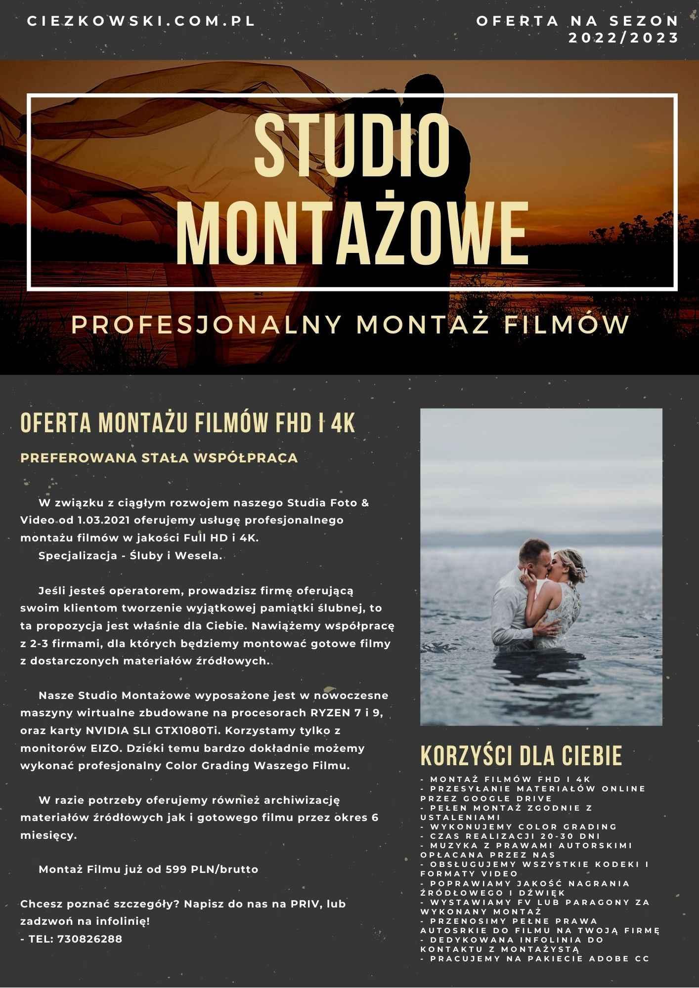 Montaż Filmów 4K i FHD Białystok! Studio Montażowe! FIRMA Białystok - zdjęcie 1