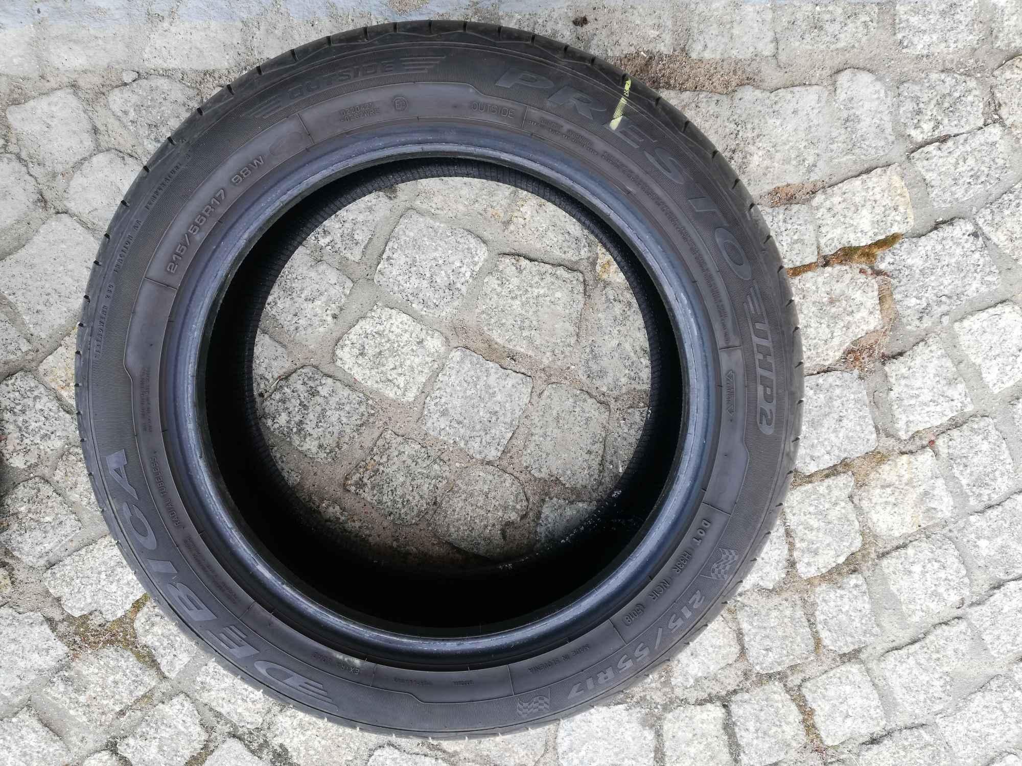 2 używane letnie opony Dębica PRESTO 215/55 R17 Fabryczna - zdjęcie 1