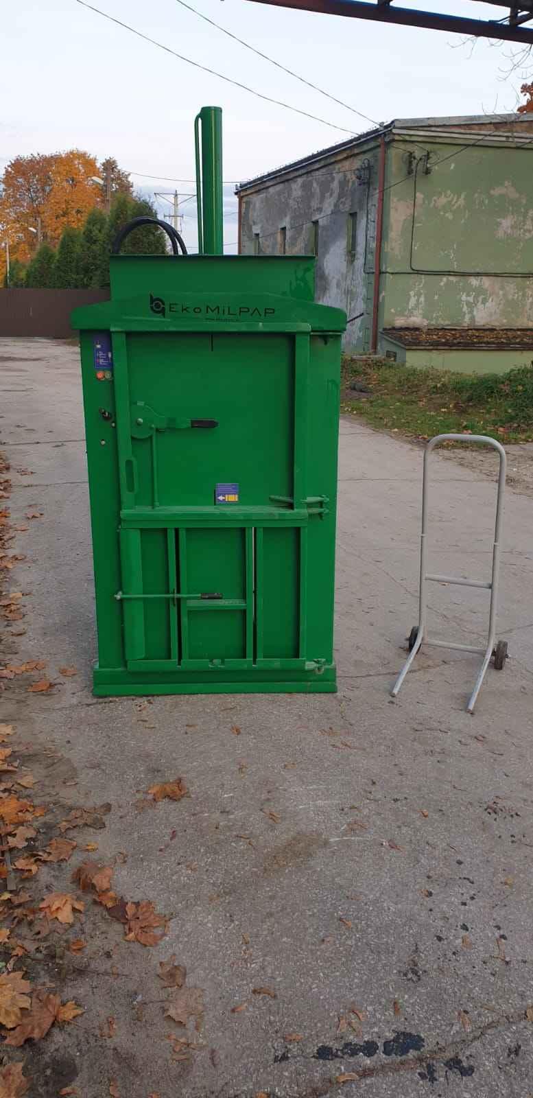 Belownica prasa do foli makulatury kartonu śmieci odpadów papieru Drzewica - zdjęcie 1