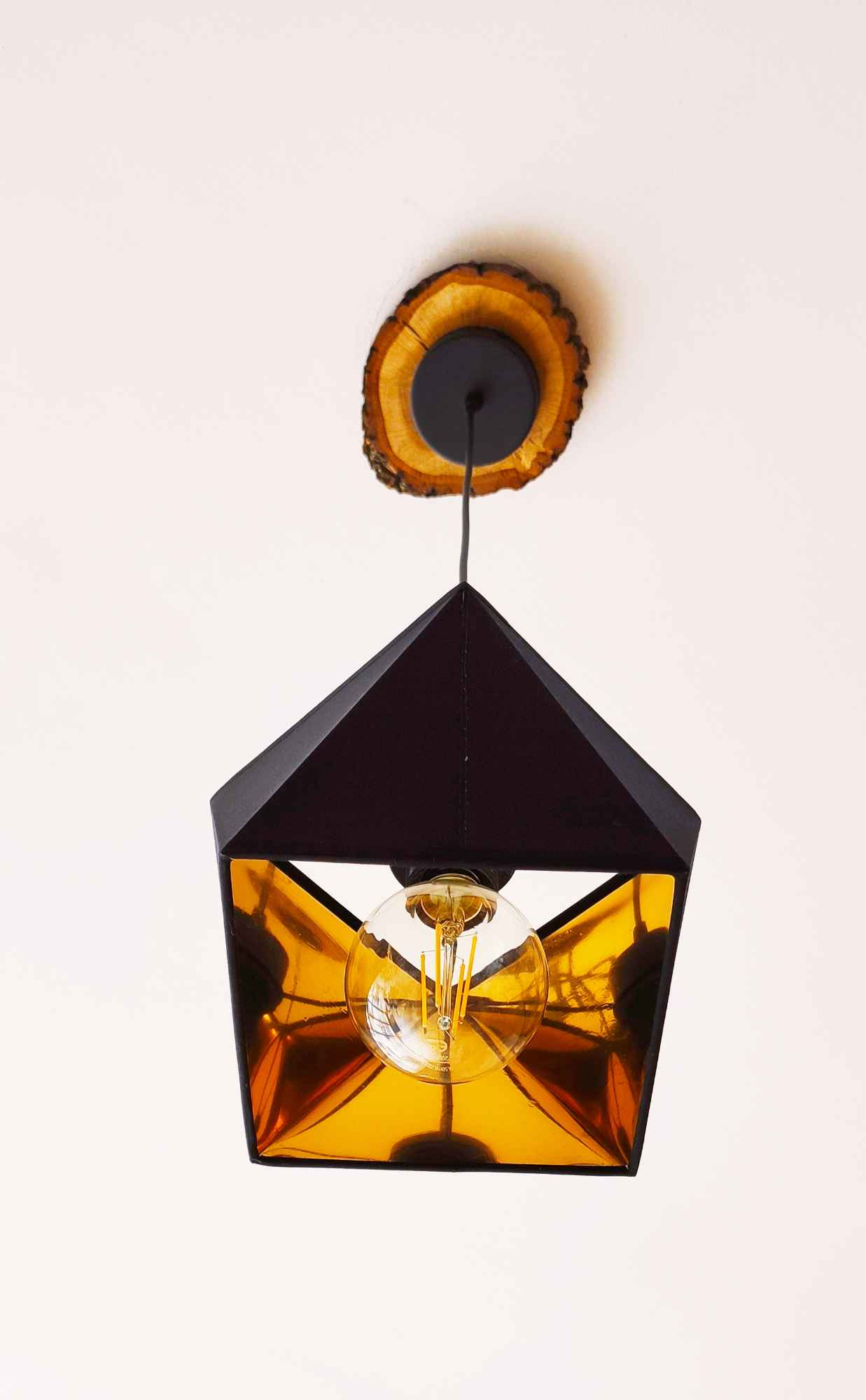 NOWOCZESNA LAMPA WISZĄCA ZŁOTY ABAŻUR DIAMENT Mysłowice - zdjęcie 1