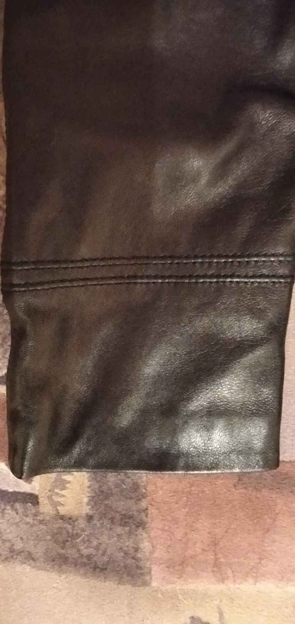 Sprzedam nową ,skórzaną, czarną ,kurtkę damską Gdynia - zdjęcie 9