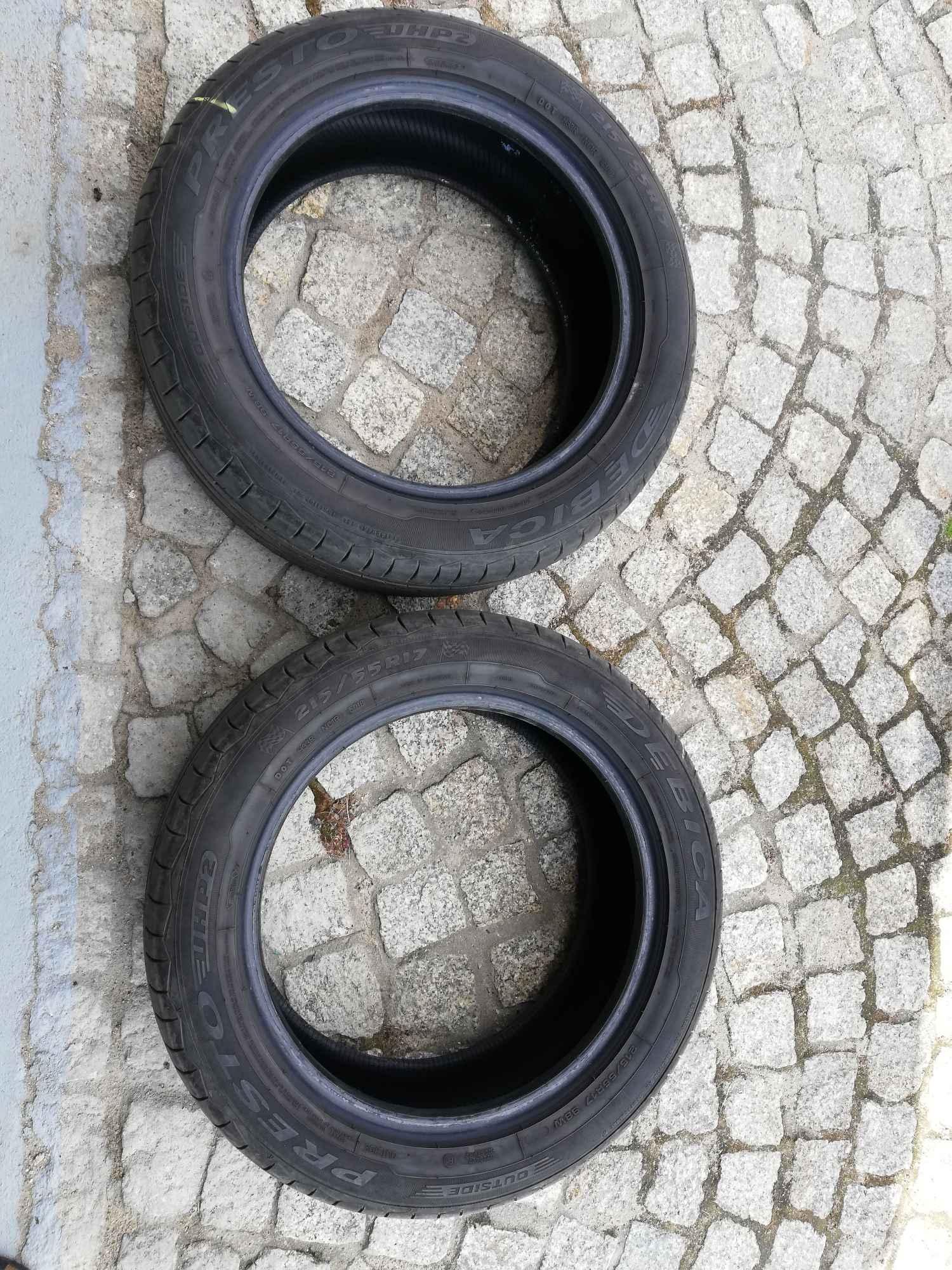 2 używane letnie opony Dębica PRESTO 215/55 R17 Fabryczna - zdjęcie 3