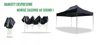 Namiot handlowy - ogrodowy 3x3 z 3  bokami Nowa Huta - zdjęcie 2