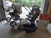 Wózek spacerowy(x2), + nosidełko + kołyska Limanowa - zdjęcie 1