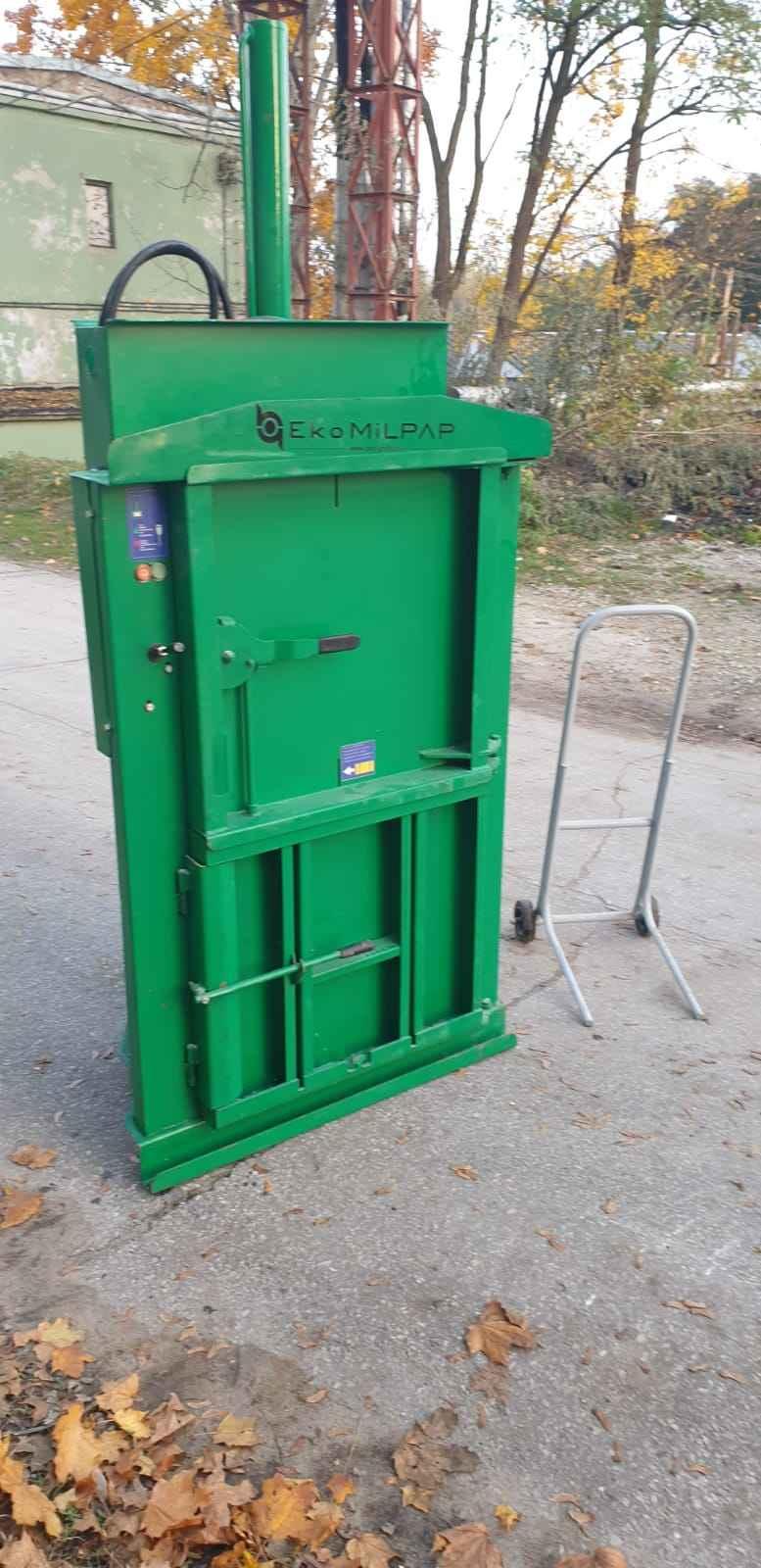 Belownica prasa do foli makulatury kartonu śmieci odpadów papieru Drzewica - zdjęcie 3