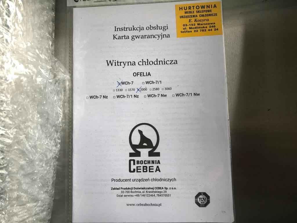 Lada chłodnicza OFELIA WCh-7/1 2000 + Regał sklepowy Praga-Południe - zdjęcie 6