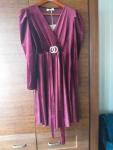 Sukienka welurowa Węgrów - zdjęcie 3