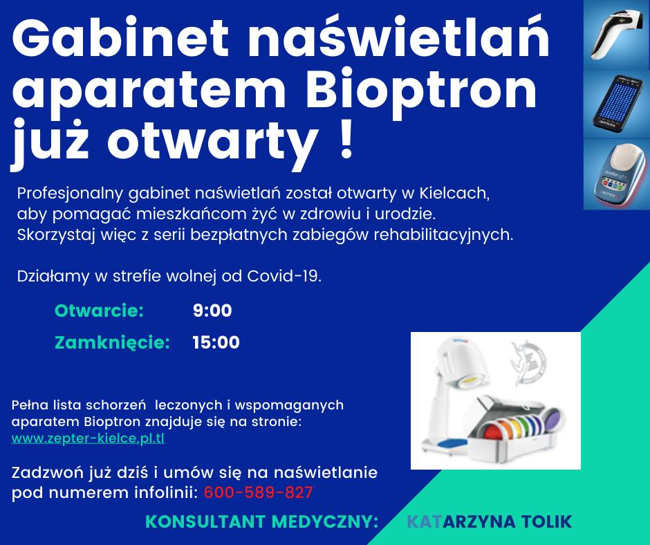 Osoby do współprowadzenia gabinetu naświetlań aparatmi Bioptron Kielce - zdjęcie 1