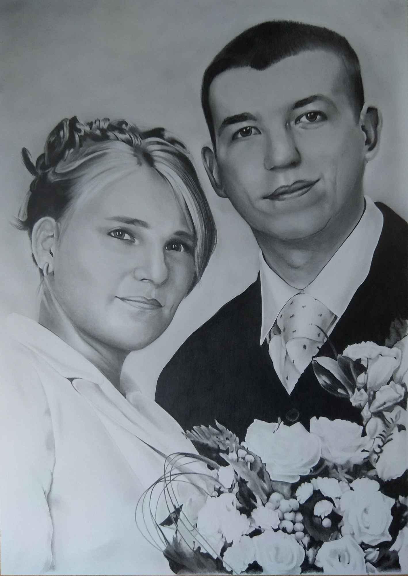 Portrety ze zdjęć na zamówienie format A4 Bukowsko - zdjęcie 6