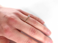 Pierścionek zaręczynowy złoty z diamentem YES z kolekcji Eternel r15,5 Mińsk Mazowiecki - zdjęcie 10