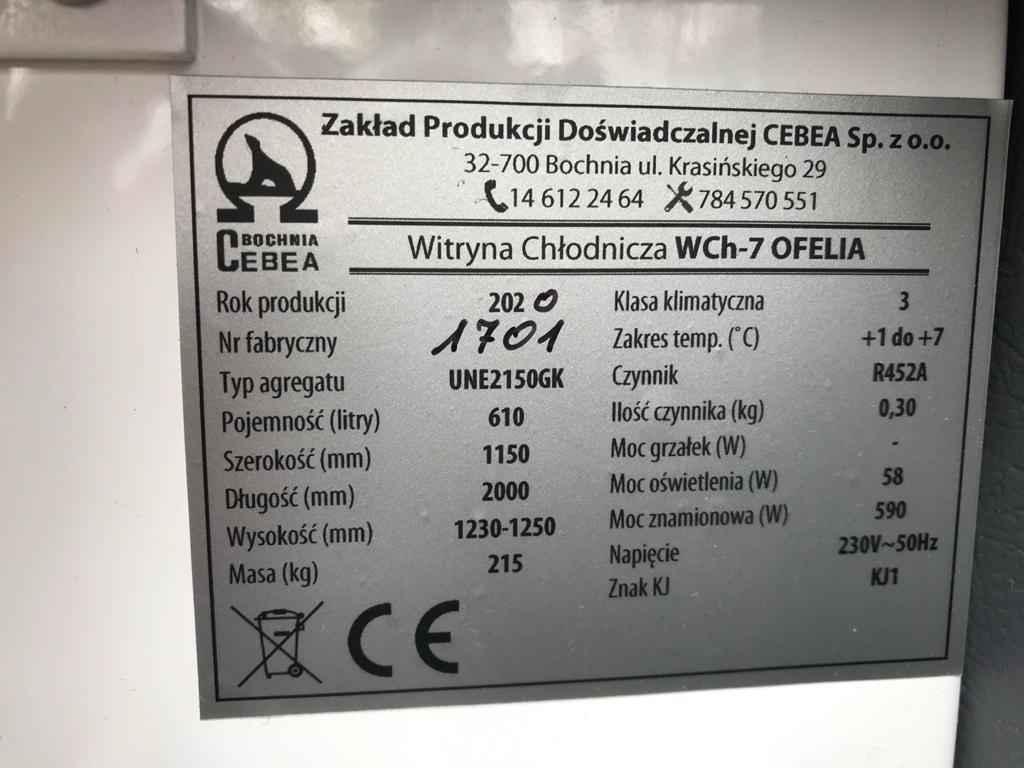 Lada chłodnicza OFELIA WCh-7/1 2000 + Regał sklepowy Praga-Południe - zdjęcie 4