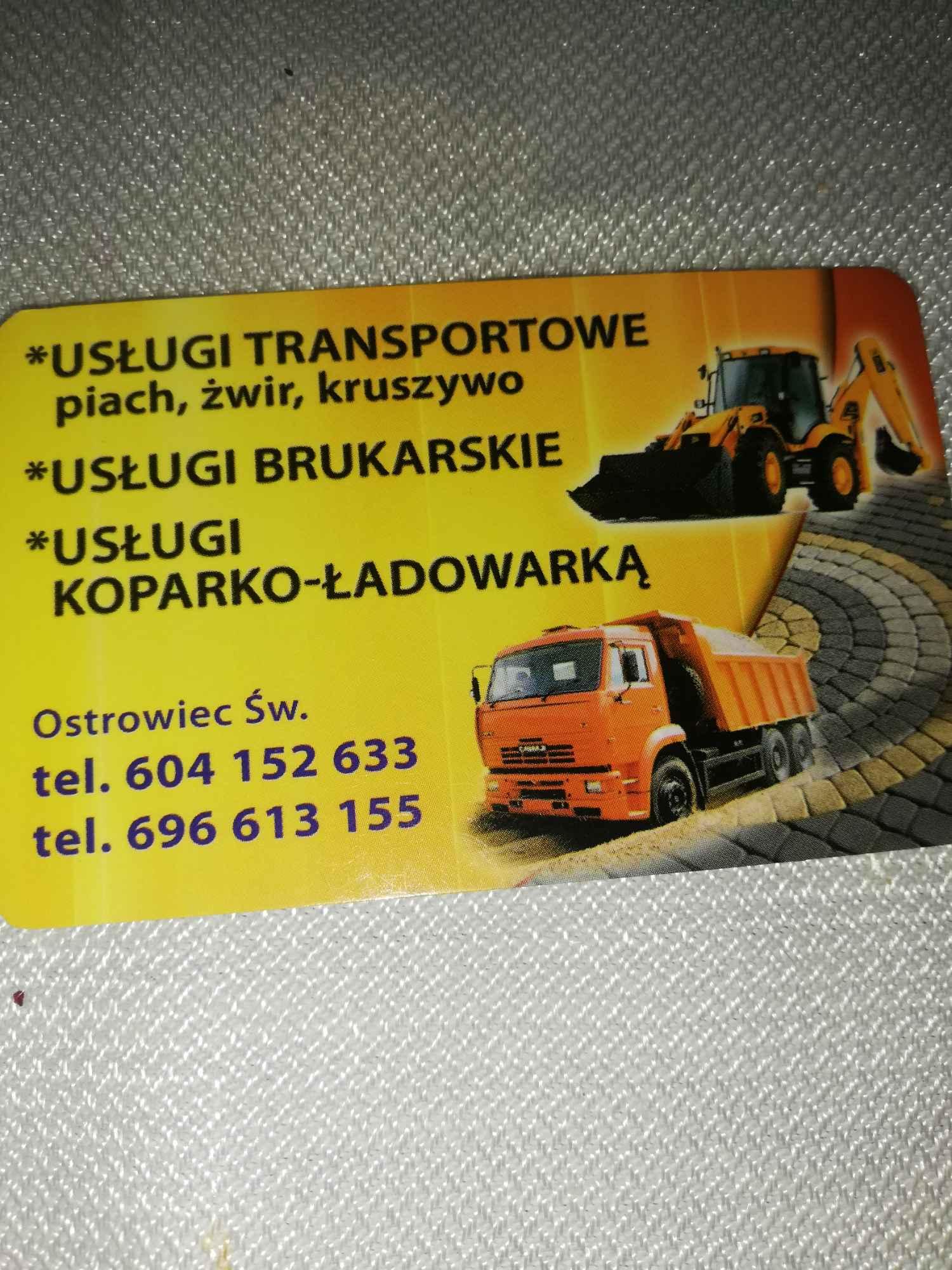 Usługi koparką i transport Ostrowiec Świętokrzyski - zdjęcie 1