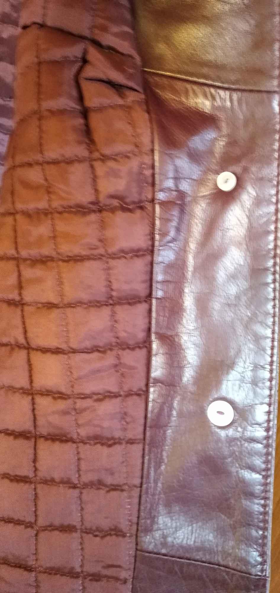 Sprzedam nową ,bordową ,skórzaną kurtkę damską Gdynia - zdjęcie 7