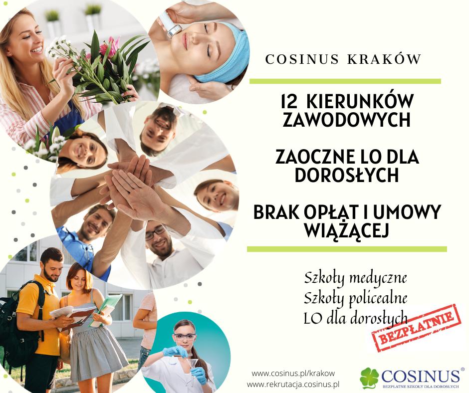 Mamy kierunek dla Ciebie! Cosinus Kraków - bezpłatnie Nowa Huta - zdjęcie 1
