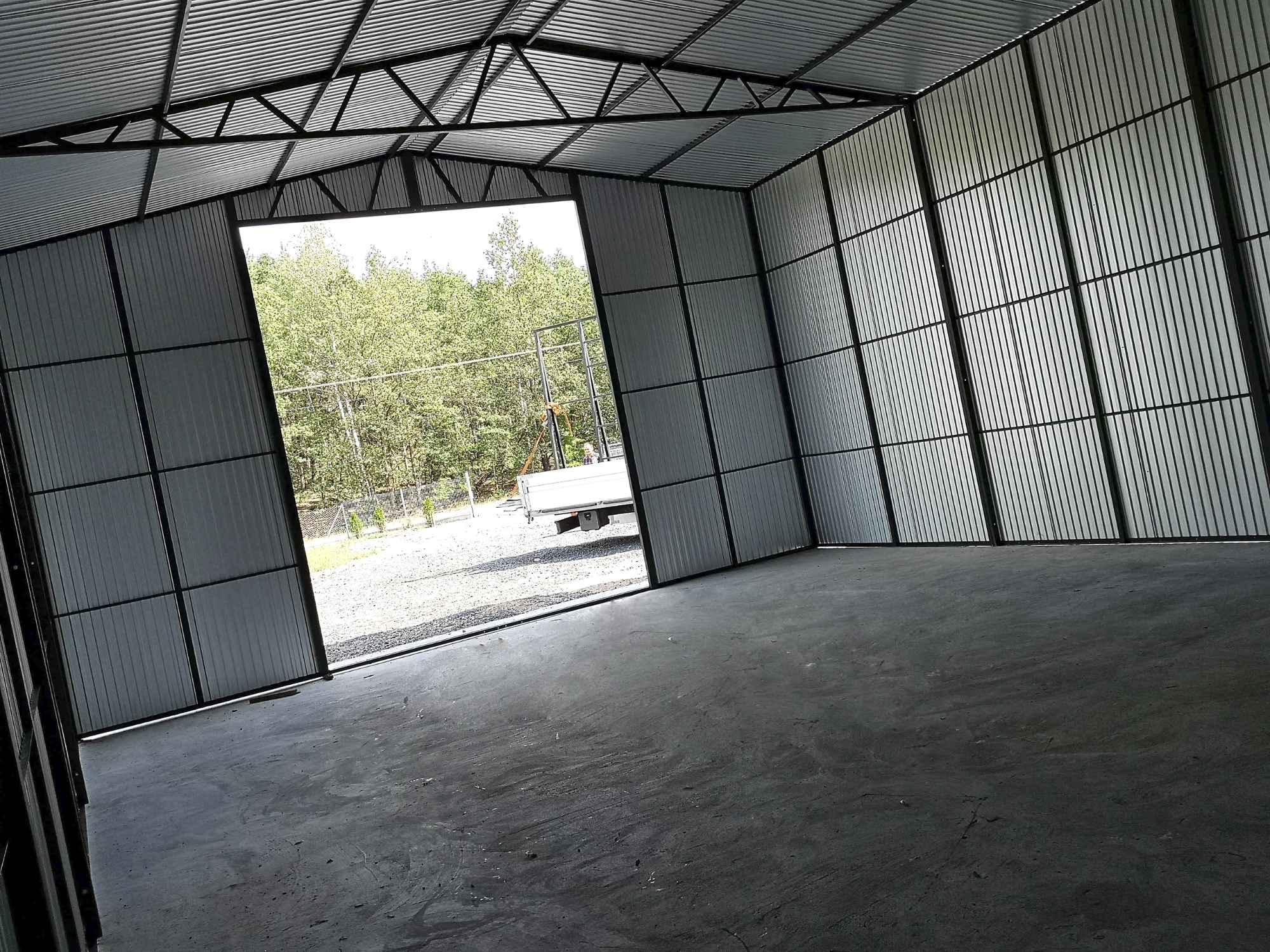 Garaż, Hala blaszana dwuspadowa 12x8 m trzy bramy, okna, drzwi, okucia Bochnia - zdjęcie 3