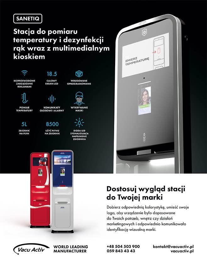 Stacja do dezynfekcji z pomiarem temperatury Łosino - zdjęcie 1