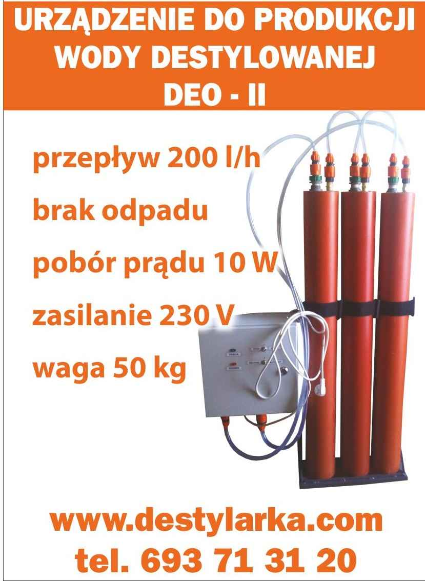 Woda demineralizowana 220l/h Wieluń - zdjęcie 1