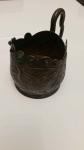 srebrna czara z  wizerunkiem  smoka z  19  wieku Orzesze - zdjęcie 2