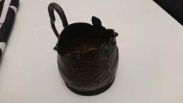 srebrna czara z  wizerunkiem  smoka z  19  wieku Orzesze - zdjęcie 5