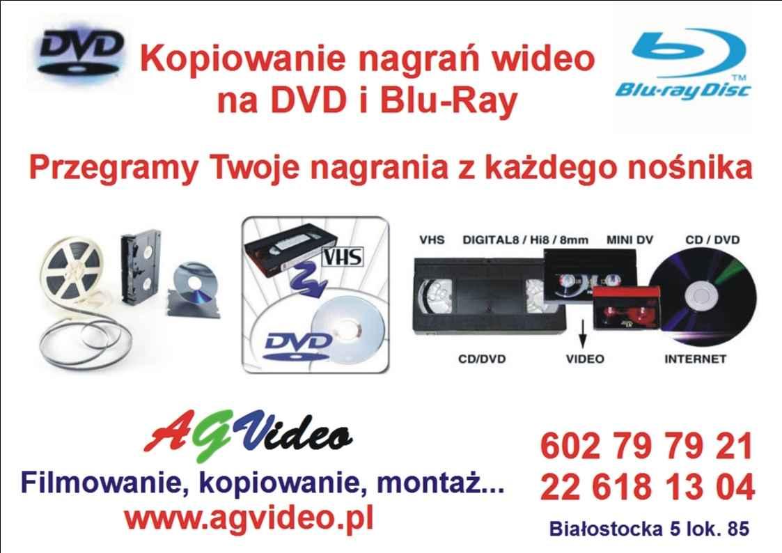 Kopiowanie filmów analogowych na nośniki cyfrowe: płyty DVD, pendrive Praga-Północ - zdjęcie 1