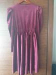 Sukienka welurowa Węgrów - zdjęcie 4