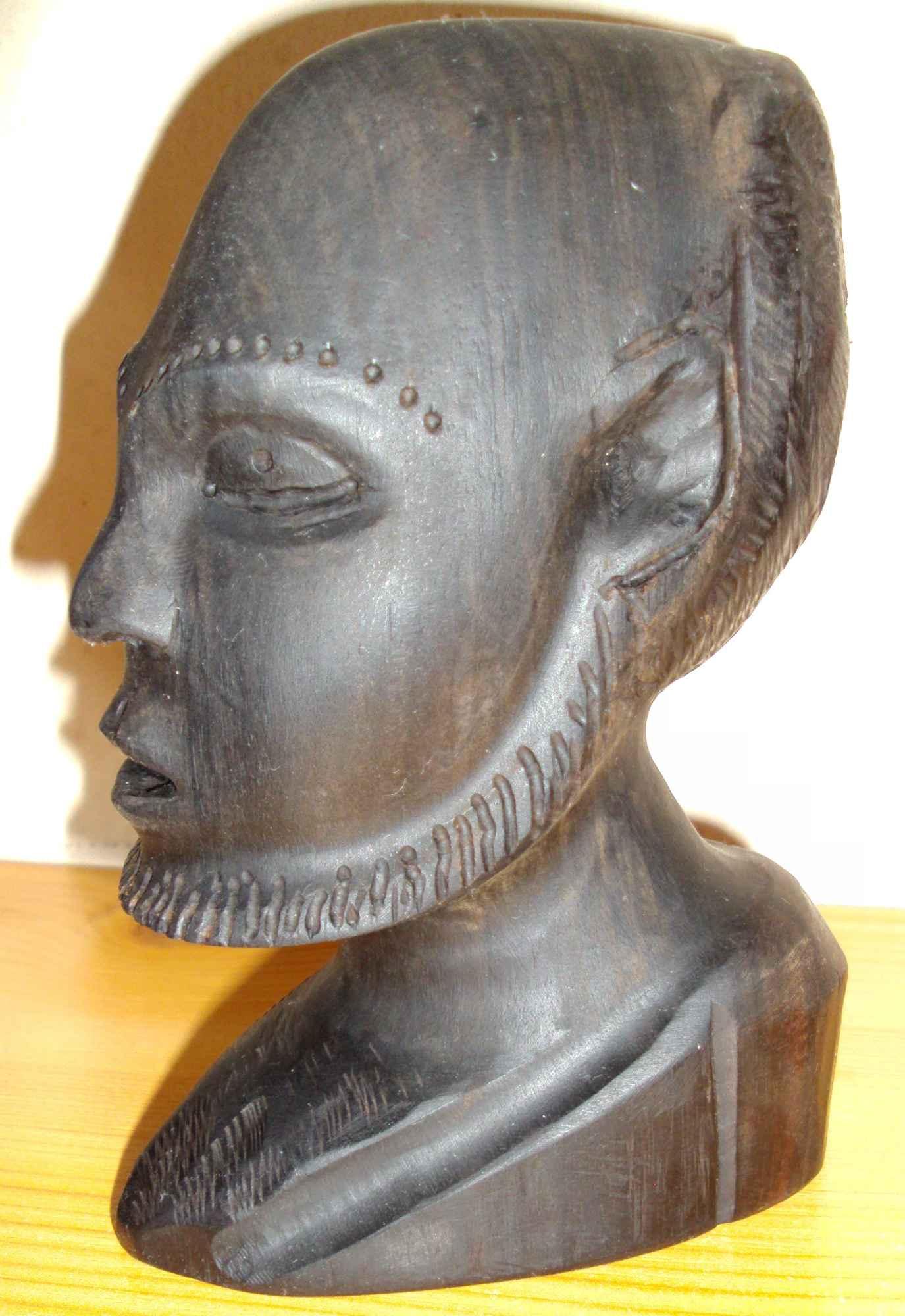 Sztuka afrykańska - 3 głowy z hebanu Śródmieście - zdjęcie 4