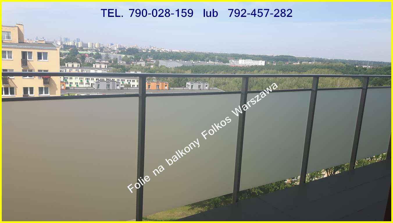 Folie na balkon-Oklejanie balkonów Błonie,Ożarów Mazowiecki i okolice Błonie - zdjęcie 3