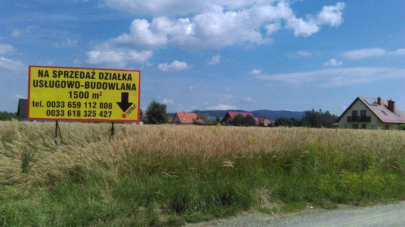 Działka budowlano-usługowa Jaszkowa Dolna - zdjęcie 1