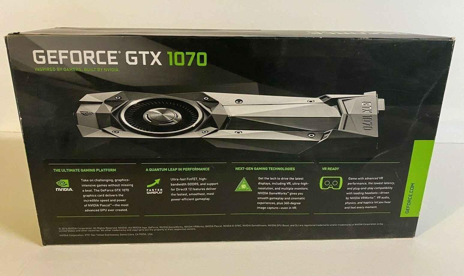 NVIDIA GeForce GTX 1070 Founders Edition 8GB GDDR5 Graphics Card GPU Bemowo - zdjęcie 1