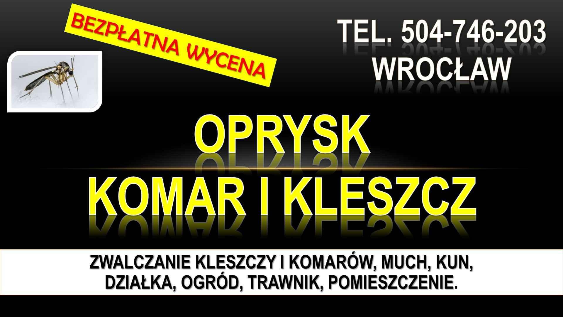 Zwalczanie kleszczy, cena, Wrocław, t504-746-203, Opryski, likwidacja. Psie Pole - zdjęcie 4