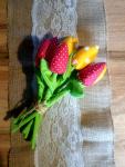 Tulipany szyte z bawełny Dzień Matki, zakończenie roku szkolnego Piekary Śląskie - zdjęcie 1