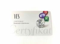 Pierścionek zaręczynowy złoty z diamentem YES z kolekcji Eternel r15,5 Mińsk Mazowiecki - zdjęcie 8