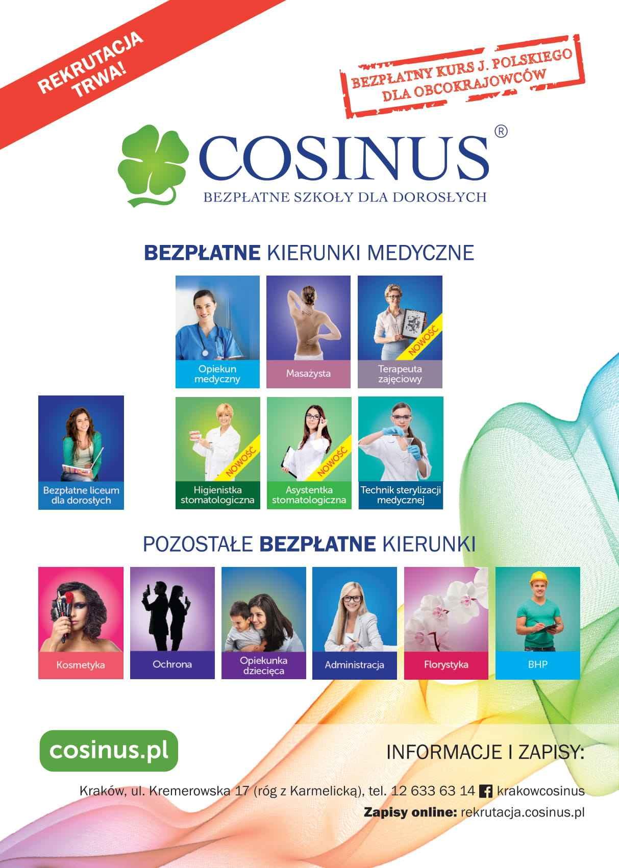 Rekrutacja do szkół Cosinus Kraków wydłużona! Nowa Huta - zdjęcie 2