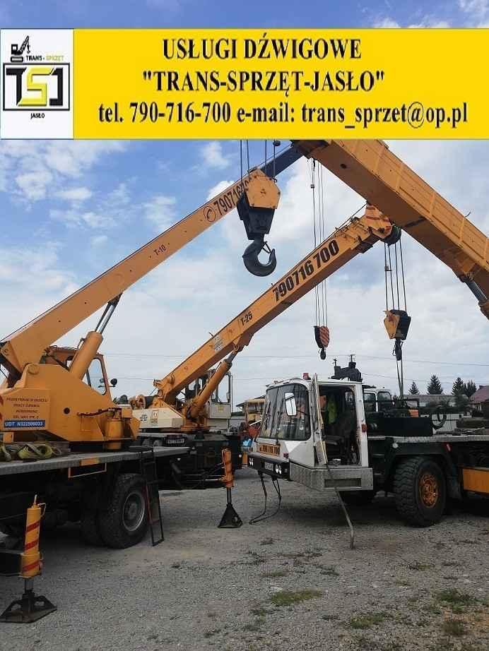 Dźwig tel 790716700 usługi dźwigowe Krosno JASŁO dźwigi do 130 ton Krosno - zdjęcie 3