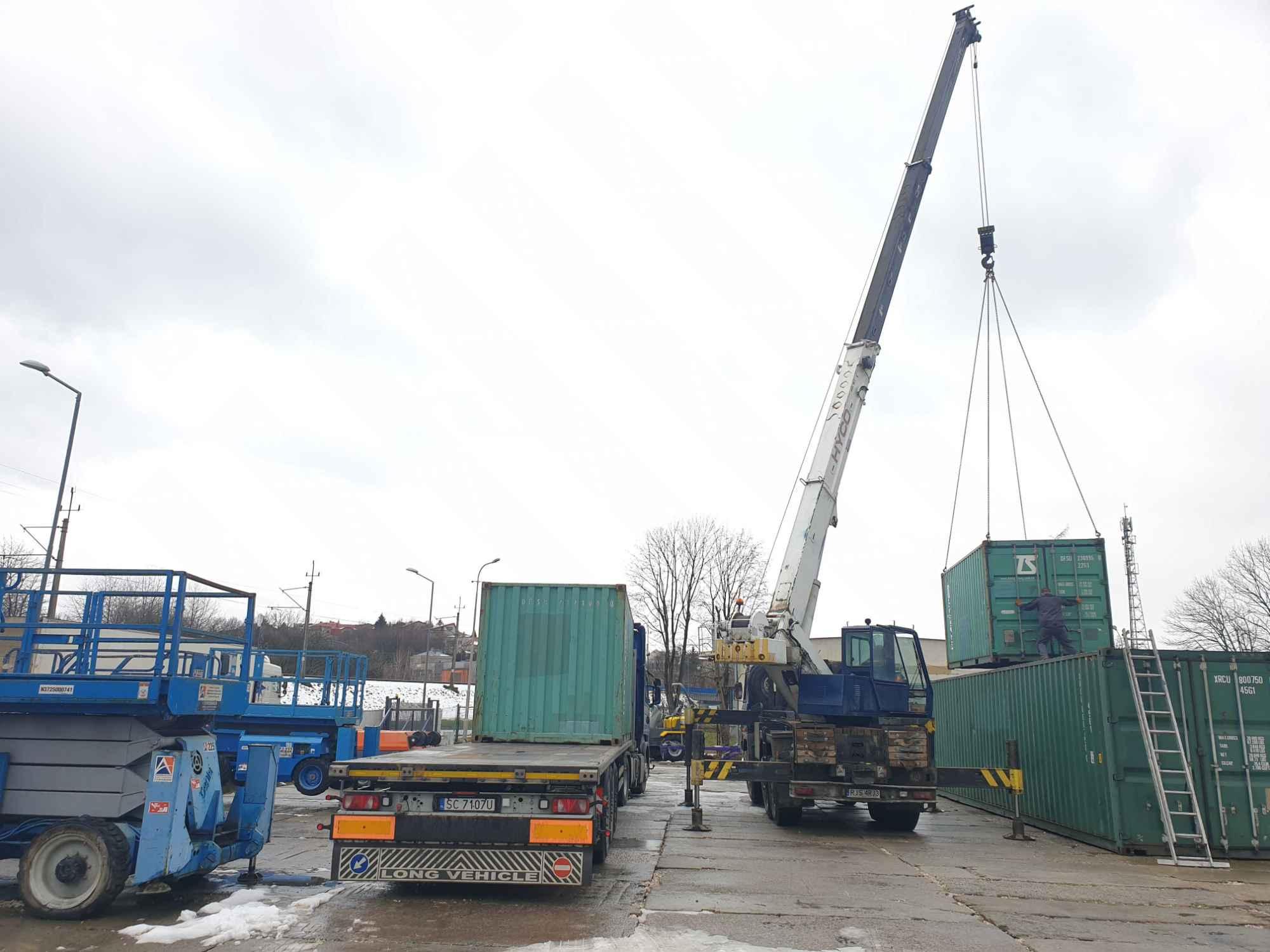 Kontenery Morskie 20DV 40HC Sprzedaż Wynajem Transport  Krosno Jasło - zdjęcie 1