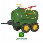 Rolly Toys rollyTrailer cysterna John Deere dwuosiowa + pompka Galiny - zdjęcie 1