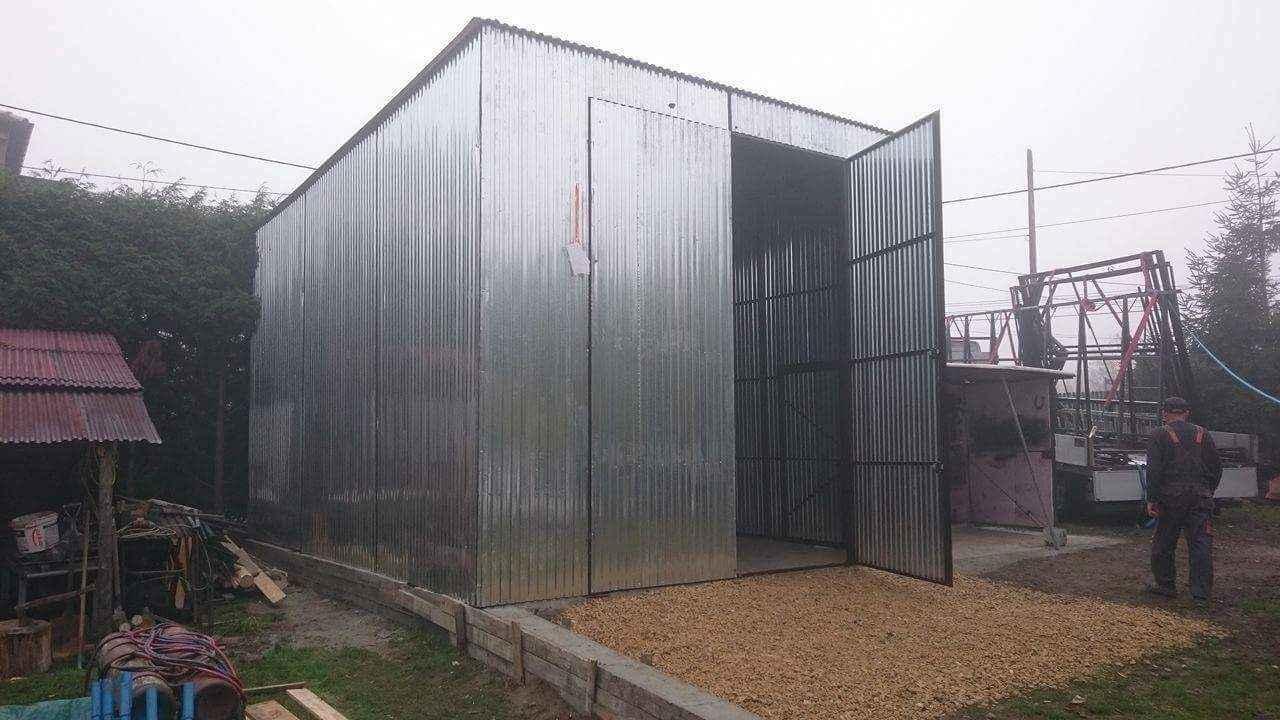 Garaże blaszane, blaszaki, schowki budowlane, kojce,wiaty, hale. Szczecin - zdjęcie 7