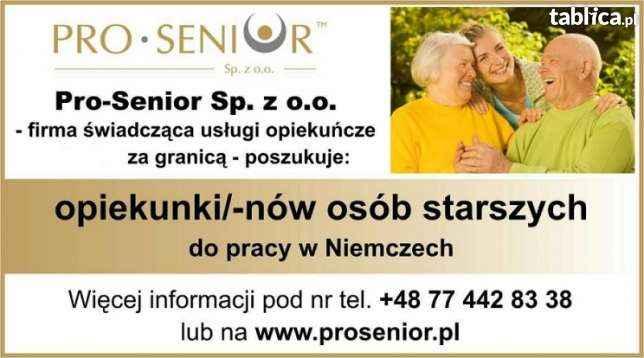 PRACA W OPIECE NAD OSOBAMI STARSZYMI W NIEMCZECH. Opole - zdjęcie 2