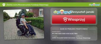 Pomóżmy Krzysztofowi w zakupie wózka Ciechanów - zdjęcie 1
